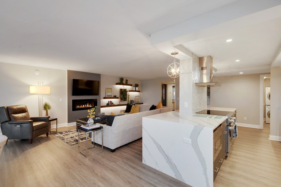 Real Estate Photography - 3003 Gulf Shore Blvd N,, Unit 103, Naples, FL, 34103 - Kitchen / Living Room