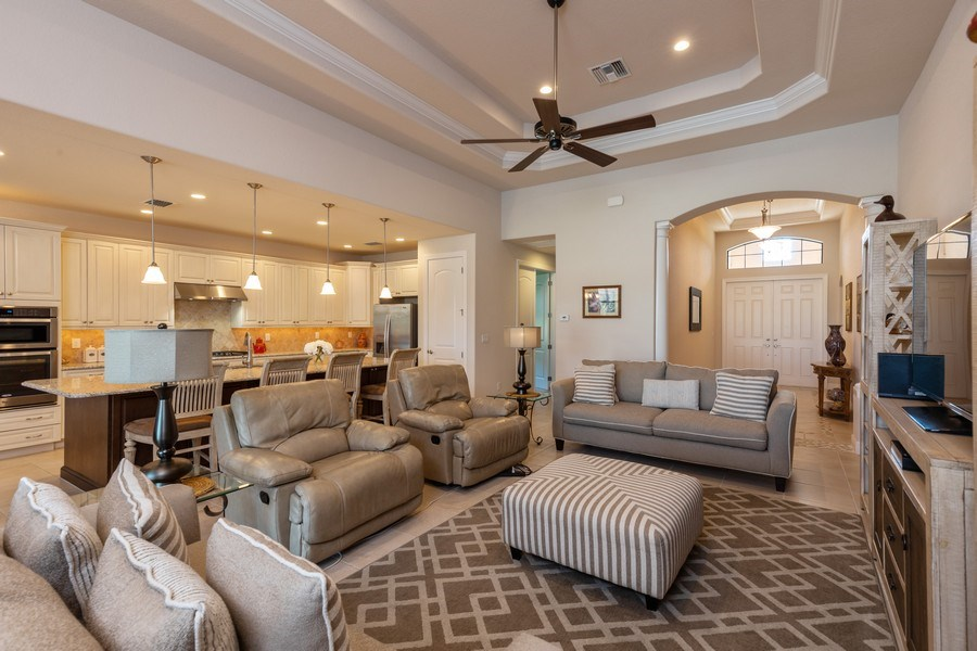 Real Estate Photography - 28460 San Amaro, Bonita Springs, FL, 34135 - Living Room
