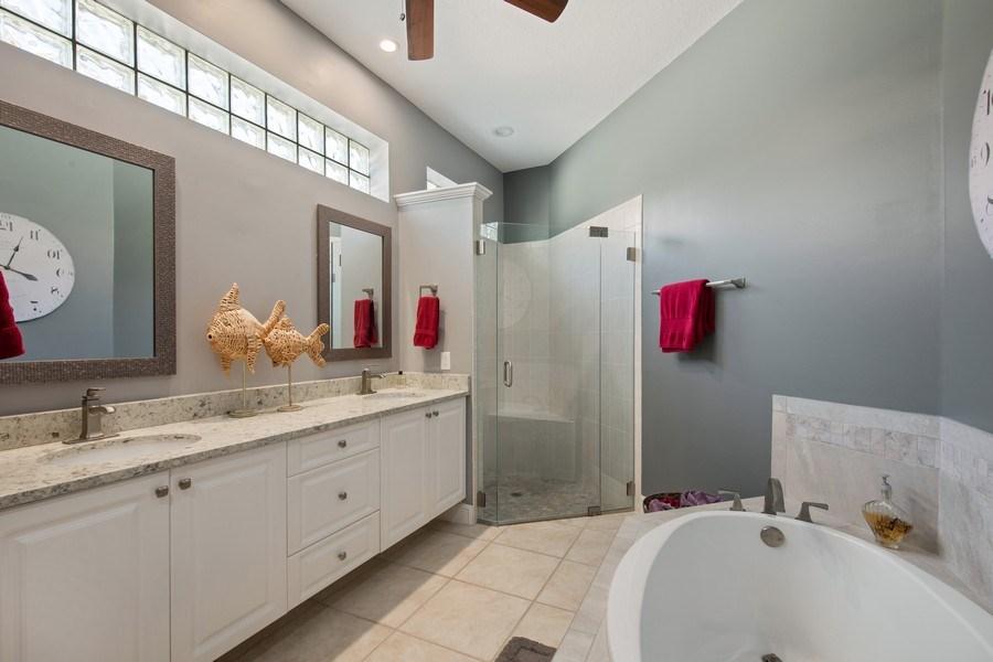 Real Estate Photography - 5081 Kensington High St., Naples, FL, 34105 - Master Bathroom