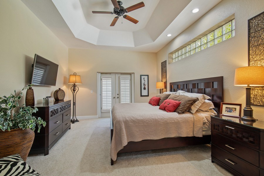 Real Estate Photography - 5081 Kensington High St., Naples, FL, 34105 - Master Bedroom
