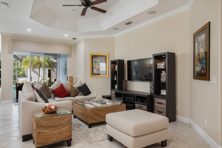 Real Estate Photography - 5081 Kensington High St., Naples, FL, 34105 - Great room