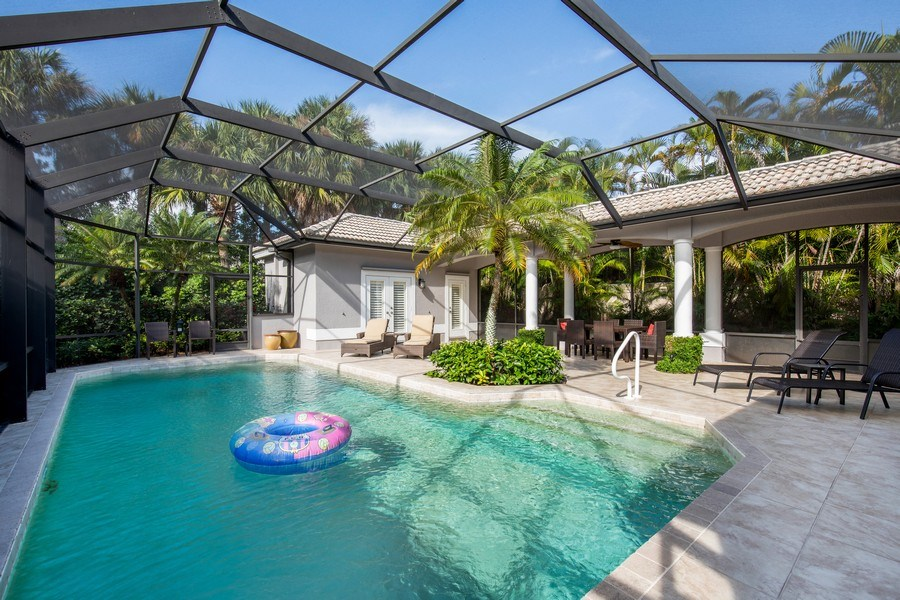 Real Estate Photography - 5081 Kensington High St., Naples, FL, 34105 - Pool