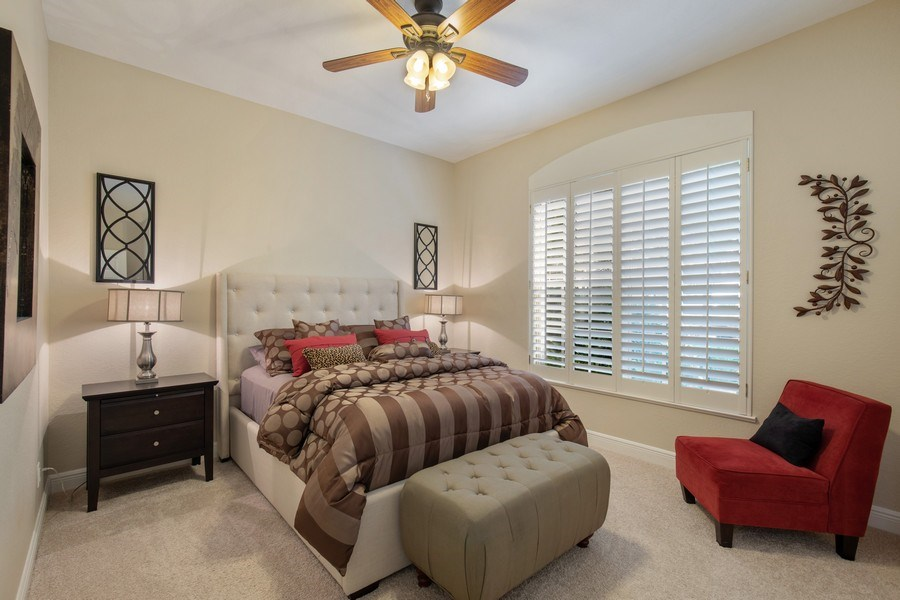 Real Estate Photography - 5081 Kensington High St., Naples, FL, 34105 - Guest Room