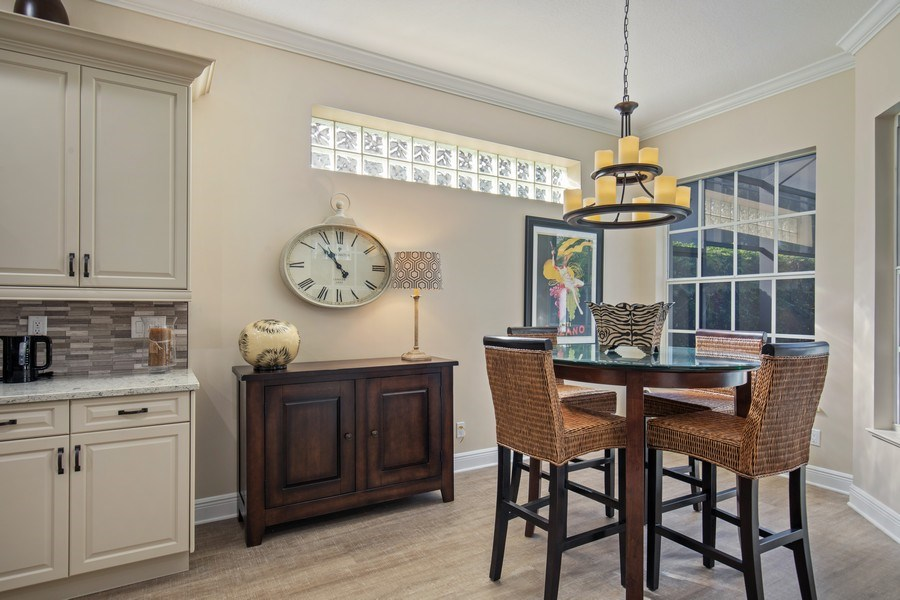 Real Estate Photography - 5081 Kensington High St., Naples, FL, 34105 - Breakfast Area