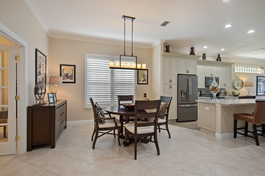 Real Estate Photography - 5081 Kensington High St., Naples, FL, 34105 - Dining Room