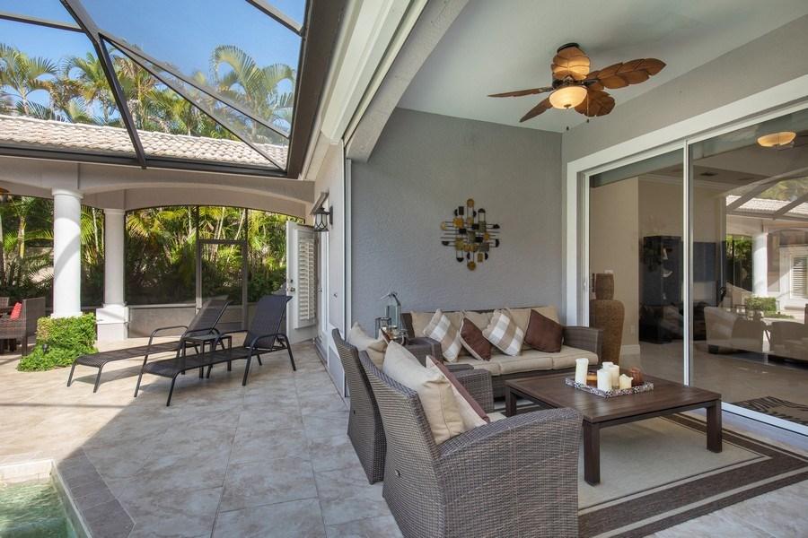 Real Estate Photography - 5081 Kensington High St., Naples, FL, 34105 - Lanai