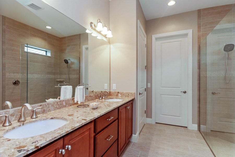 Real Estate Photography - 4572 Tamarind Way, (Raffia Preserve), Naples, FL, 34119 - Master Bathroom