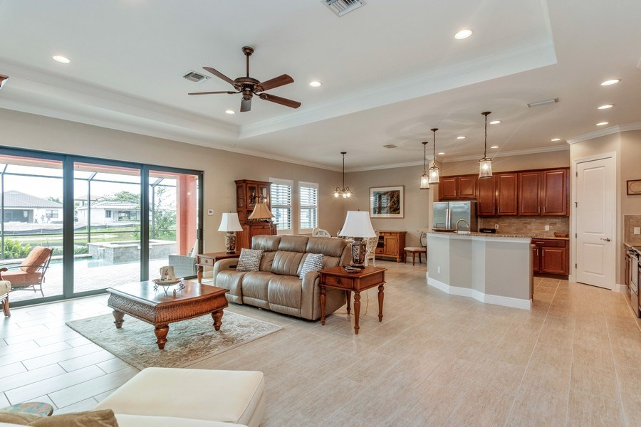 Real Estate Photography - 4572 Tamarind Way, (Raffia Preserve), Naples, FL, 34119 - Living Room