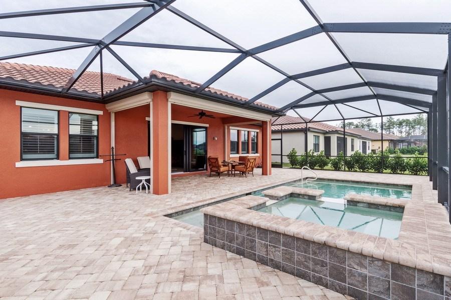 Real Estate Photography - 4572 Tamarind Way, (Raffia Preserve), Naples, FL, 34119 - Pool