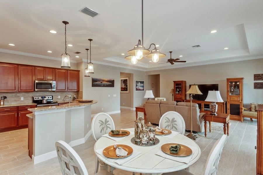 Real Estate Photography - 4572 Tamarind Way, (Raffia Preserve), Naples, FL, 34119 - Dining Area