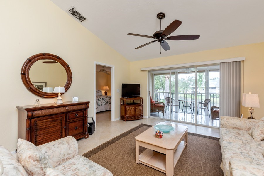 Real Estate Photography - 132 Pebble Shores Drive #201, Naples, FL, 34110 - Living Room