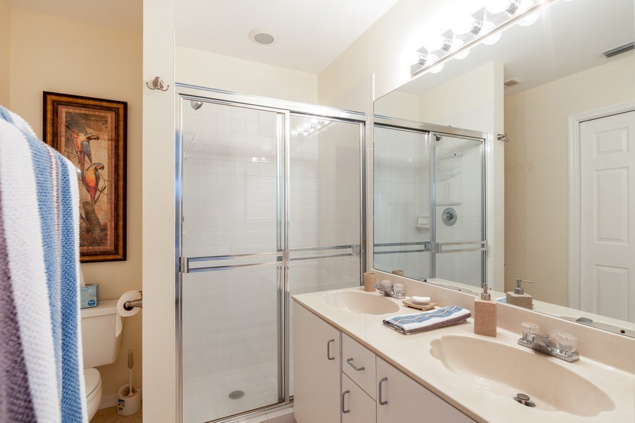 Real Estate Photography - 132 Pebble Shores Drive #201, Naples, FL, 34110 - Master Bathroom