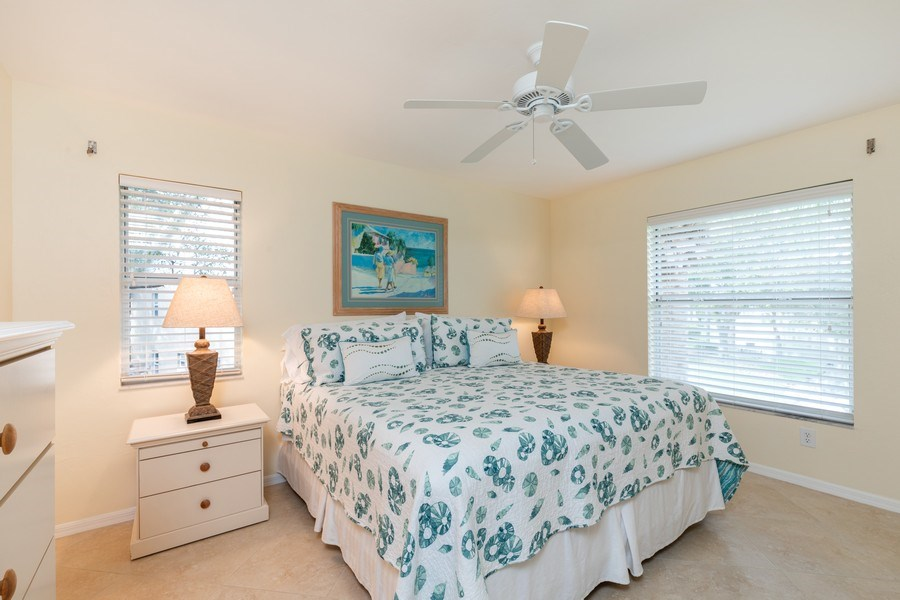 Real Estate Photography - 132 Pebble Shores Drive #201, Naples, FL, 34110 - Master Bedroom