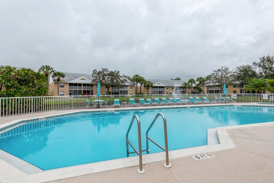 Real Estate Photography - 132 Pebble Shores Drive #201, Naples, FL, 34110 - Pool