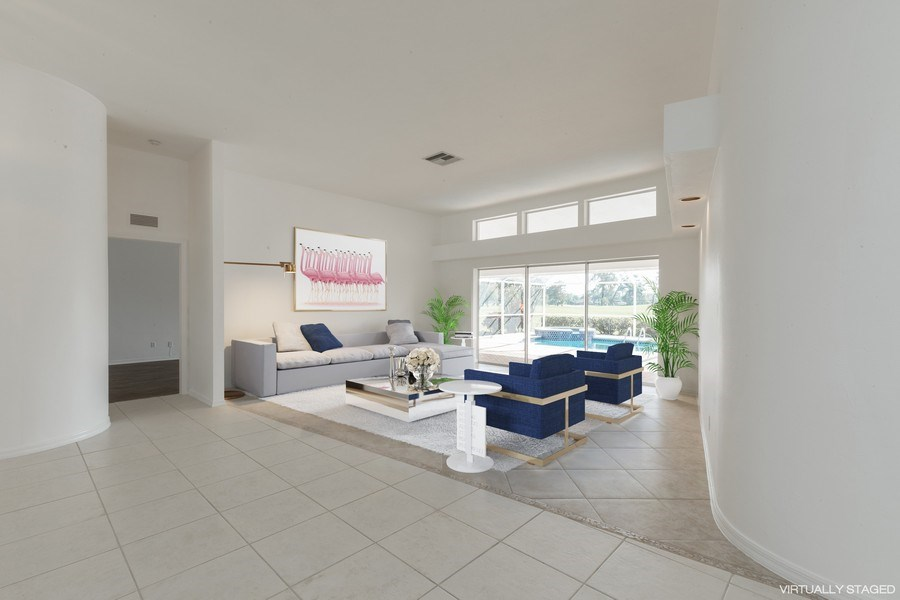 Real Estate Photography - 1918 Imperial Golf Course Blvd., Naples, FL, 34110 - Living Room (Virtual Staging)