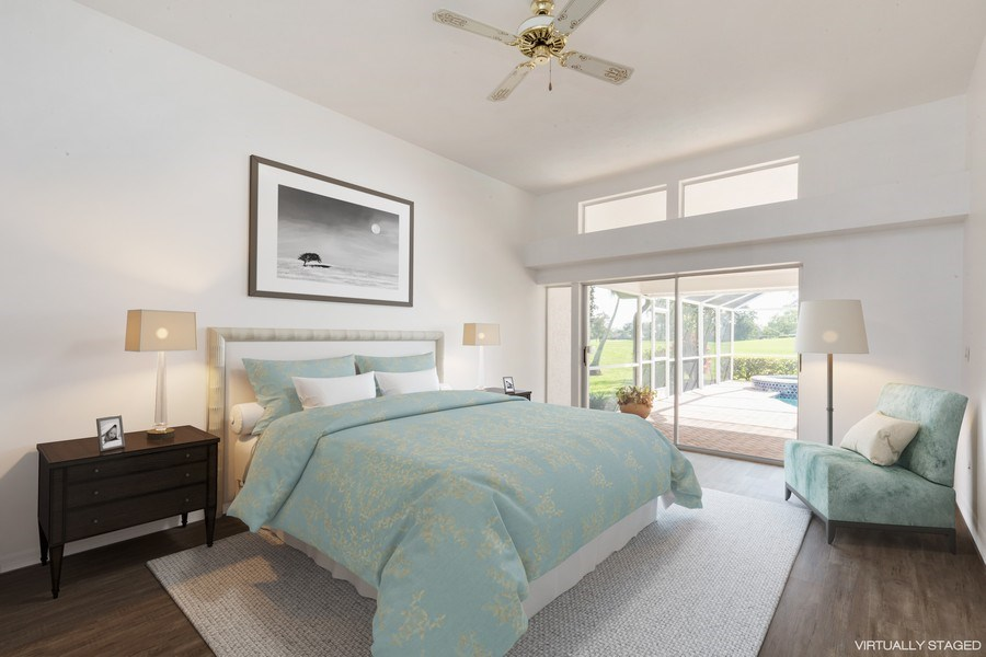 Real Estate Photography - 1918 Imperial Golf Course Blvd., Naples, FL, 34110 - Master Bedroom (Virtual Staging)