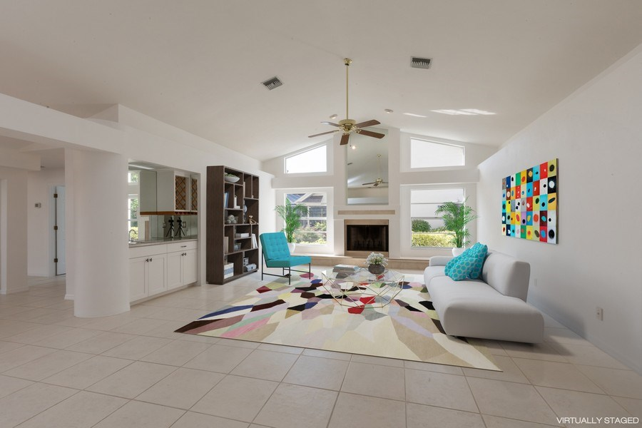 Real Estate Photography - 1918 Imperial Golf Course Blvd., Naples, FL, 34110 - Family Room (Virtual Staging)