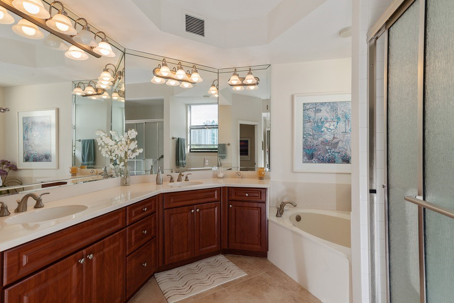 Real Estate Photography - 7008 Pelican Bay Blvd, Unit H305, Naples, FL, 34108 - Master Bathroom