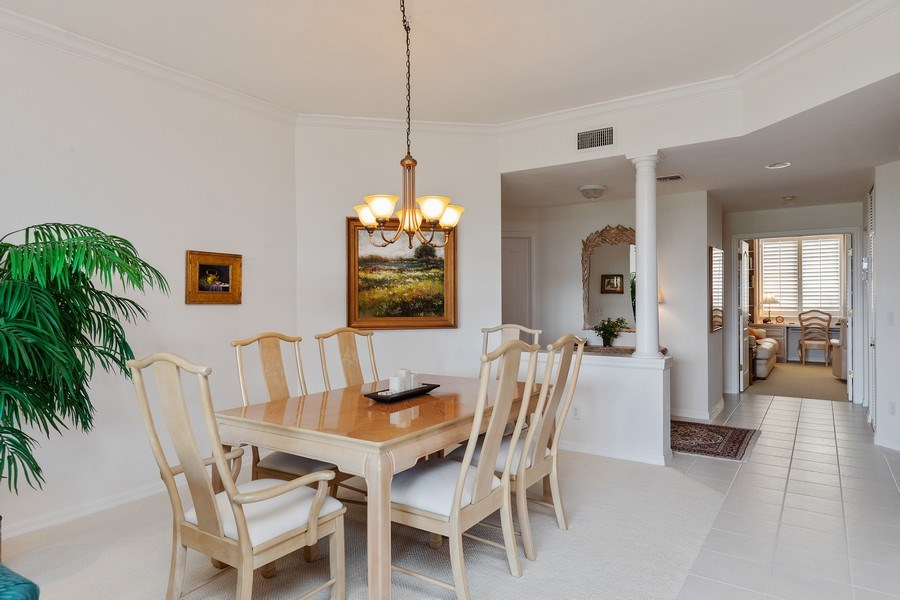 Real Estate Photography - 7008 Pelican Bay Blvd, Unit H305, Naples, FL, 34108 - Dining Room