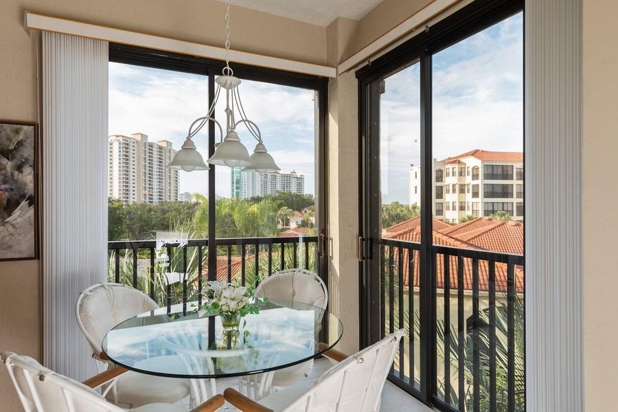 Real Estate Photography - 7008 Pelican Bay Blvd, Unit H305, Naples, FL, 34108 - Breakfast Nook