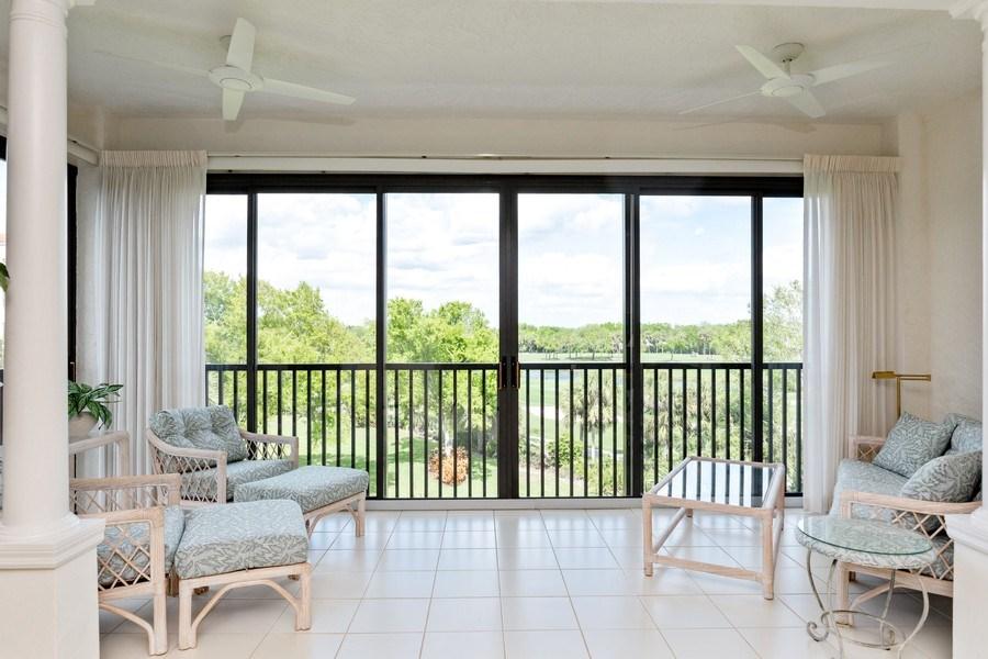 Real Estate Photography - 7008 Pelican Bay Blvd, Unit H305, Naples, FL, 34108 - Sunroom