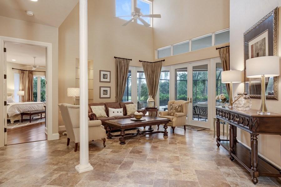 Real Estate Photography - 25011 Pennyroyal Dr, Bonita Springs, FL, 34134 - Living Room