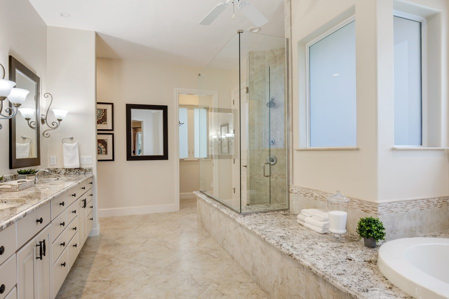 Real Estate Photography - 25011 Pennyroyal Dr, Bonita Springs, FL, 34134 - Master Bathroom
