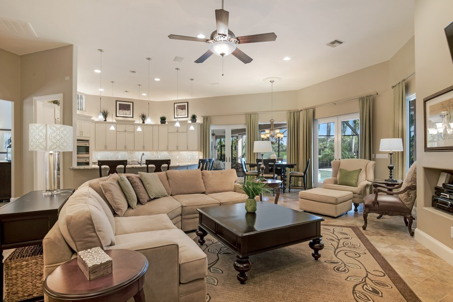 Real Estate Photography - 25011 Pennyroyal Dr, Bonita Springs, FL, 34134 - Family Room