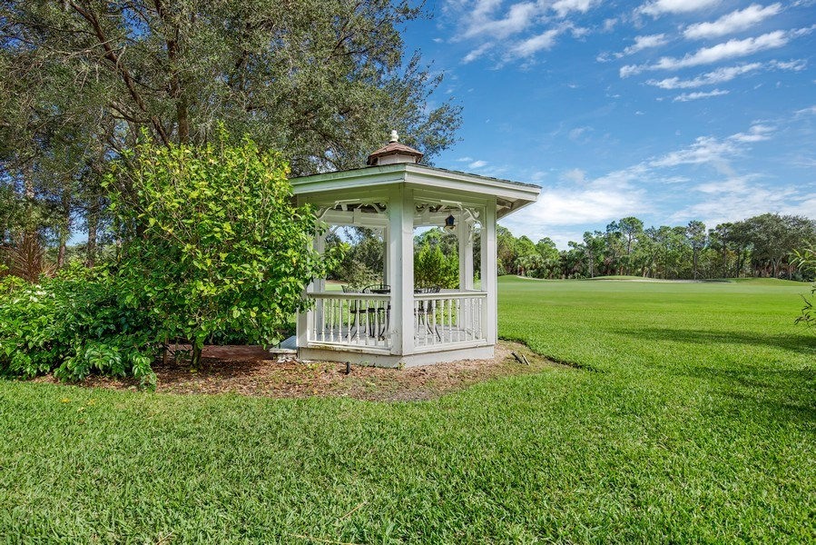 Real Estate Photography - 25011 Pennyroyal Dr, Bonita Springs, FL, 34134 - Gazebo