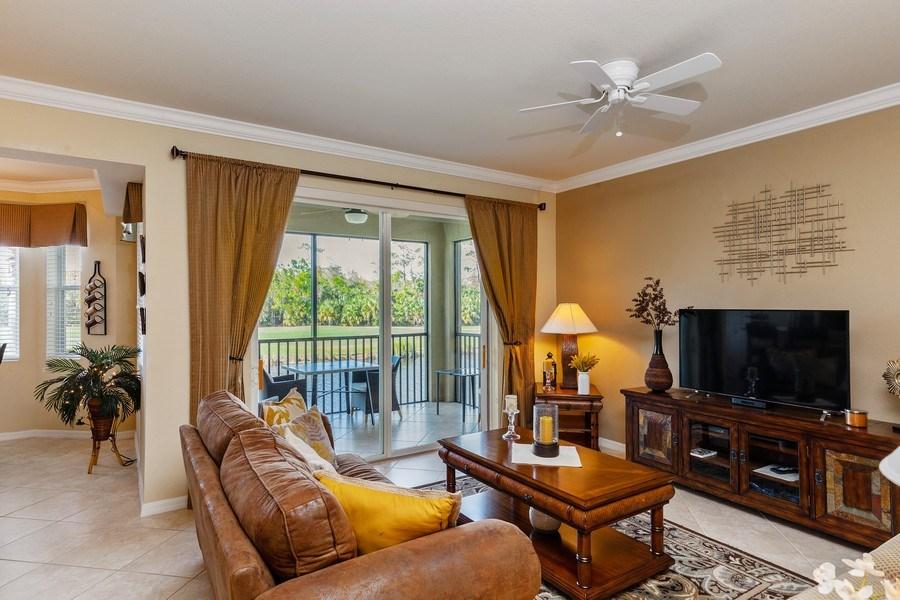Real Estate Photography - 10317 Heritage Bay Blvd, Unit 1427, Naples, FL, 34120 - Living Room
