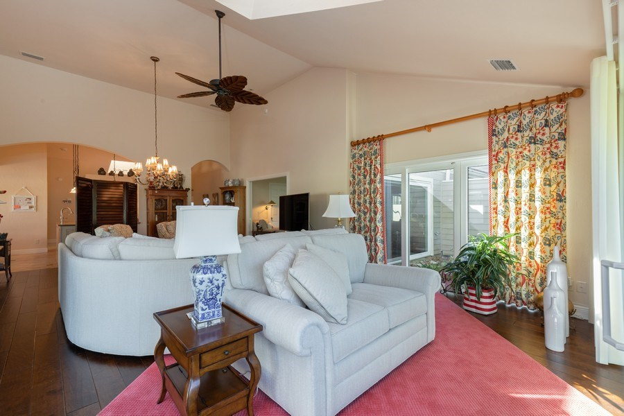 Real Estate Photography - 411 Edgemere way North, Naples, FL, 34105 - Living Room