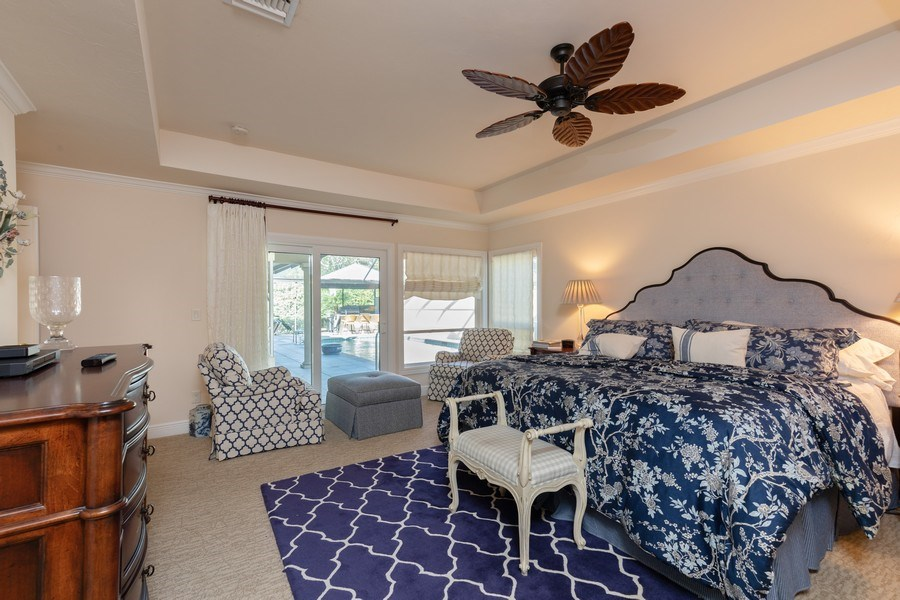 Real Estate Photography - 411 Edgemere way North, Naples, FL, 34105 - Master Bedroom