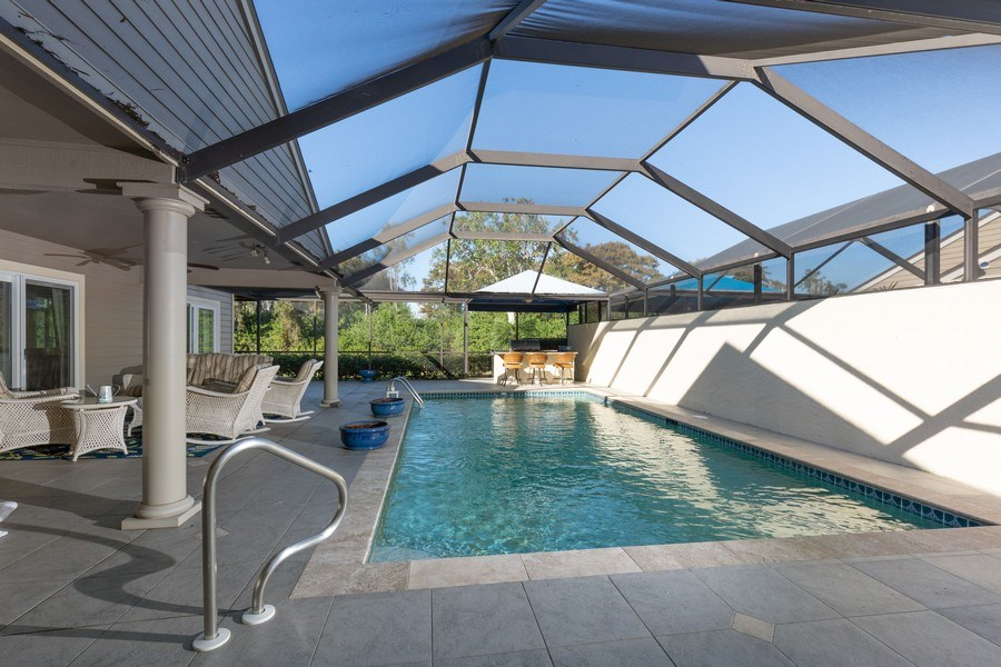 Real Estate Photography - 411 Edgemere way North, Naples, FL, 34105 - Pool