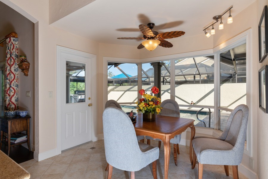 Real Estate Photography - 411 Edgemere way North, Naples, FL, 34105 - Breakfast Area