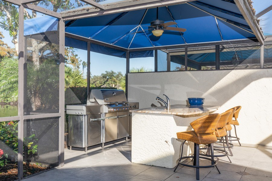 Real Estate Photography - 411 Edgemere way North, Naples, FL, 34105 - Patio
