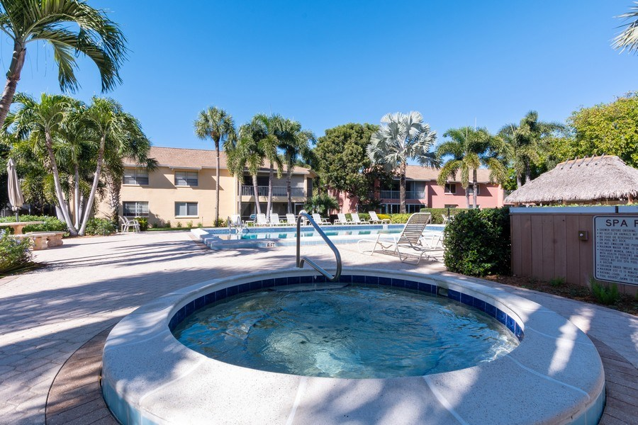 Real Estate Photography - 3200 Binnacle Drive, F3, Naples, FL, 34103 - Pool