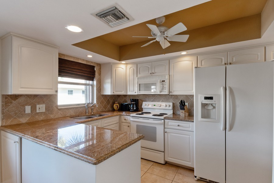 Real Estate Photography - 3200 Binnacle Drive, F3, Naples, FL, 34103 - Kitchen