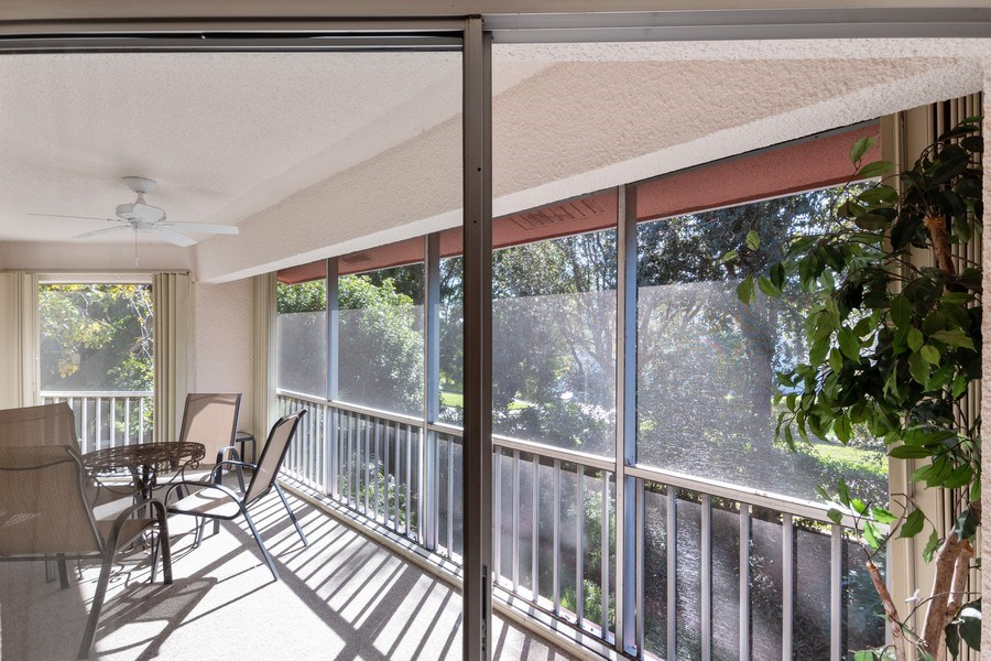 Real Estate Photography - 3200 Binnacle Drive, F3, Naples, FL, 34103 - Patio
