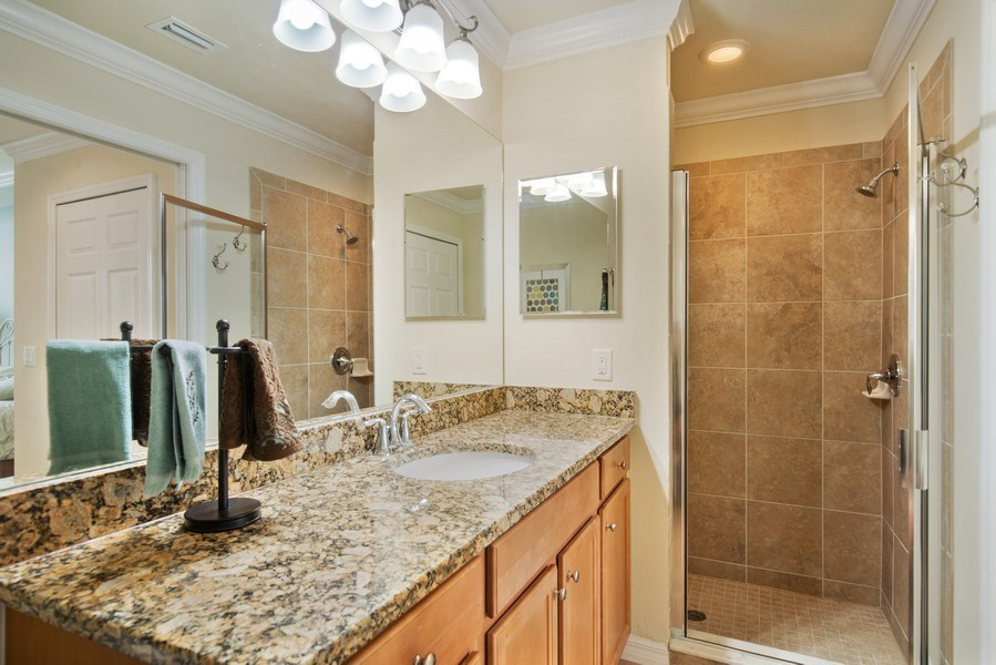 Real Estate Photography - 17921 Bonita National Blvd, 218, Bonita Springs,, FL, 34135 - Master Bathroom