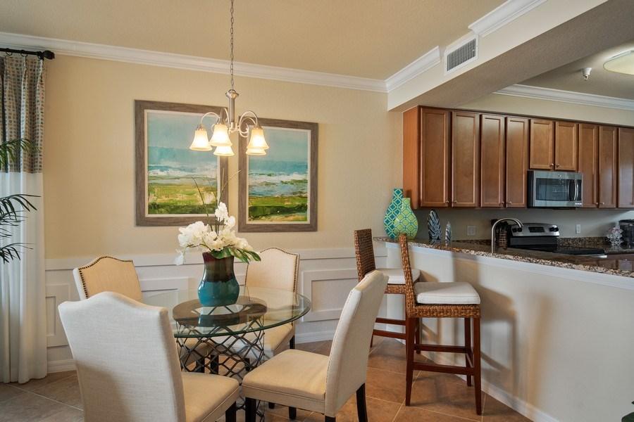 Real Estate Photography - 17921 Bonita National Blvd, 218, Bonita Springs,, FL, 34135 - Breakfast Area