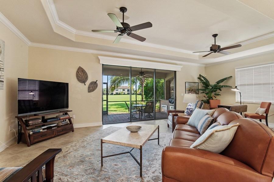 Real Estate Photography - 28549 Westmeath Ct, Bonita Springs, FL, 34135 - Living Room