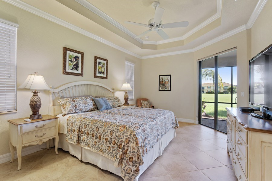 Real Estate Photography - 28549 Westmeath Ct, Bonita Springs, FL, 34135 - Master Bedroom