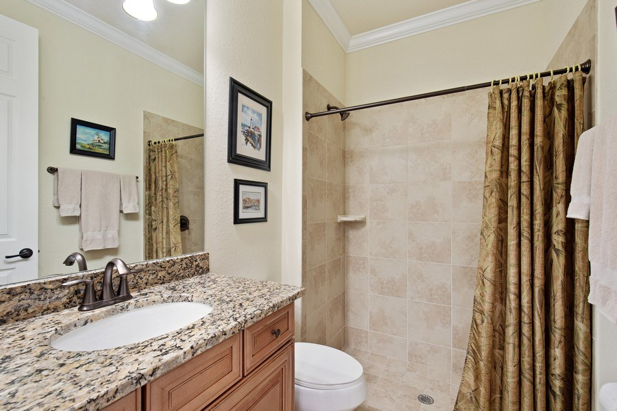 Real Estate Photography - 28549 Westmeath Ct, Bonita Springs, FL, 34135 - 2nd Bathroom