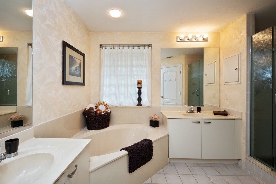 Real Estate Photography - 7008 Pelican Bay Blvd, H204, Naples, FL, 34108 - Master Bathroom