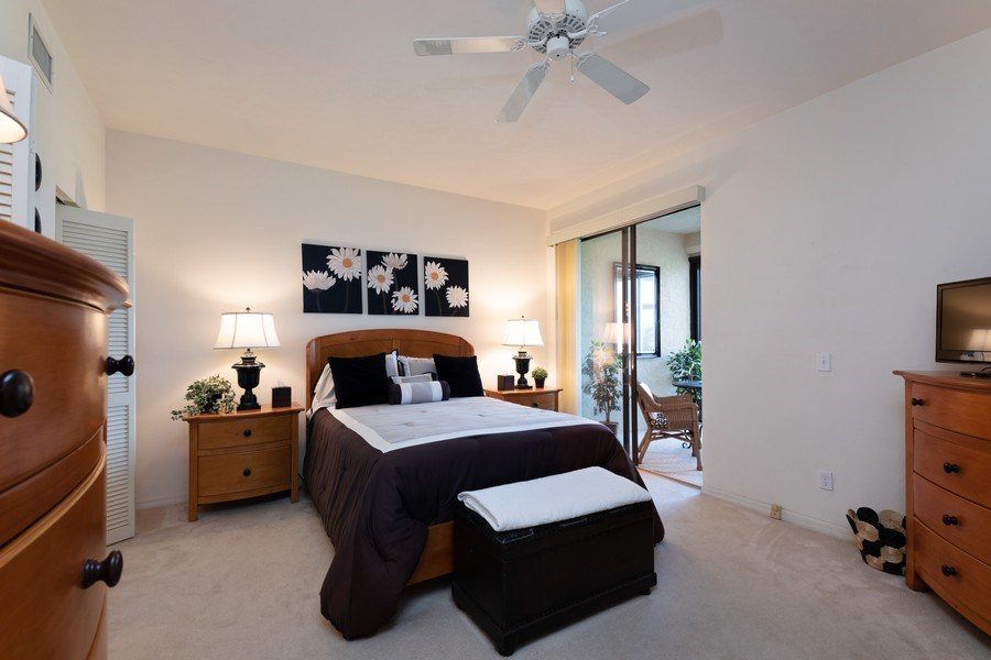 Real Estate Photography - 7008 Pelican Bay Blvd, H204, Naples, FL, 34108 - Master Bedroom