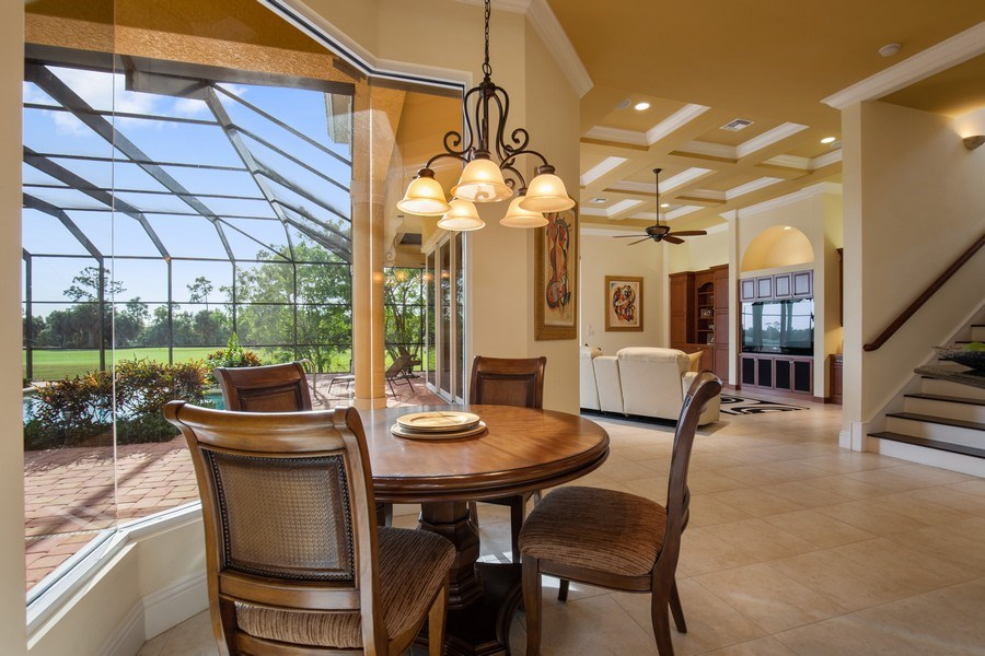Real Estate Photography - 6710 Mossy Glen Dr, Fort Myers, FL, 33908 - Breakfast Area