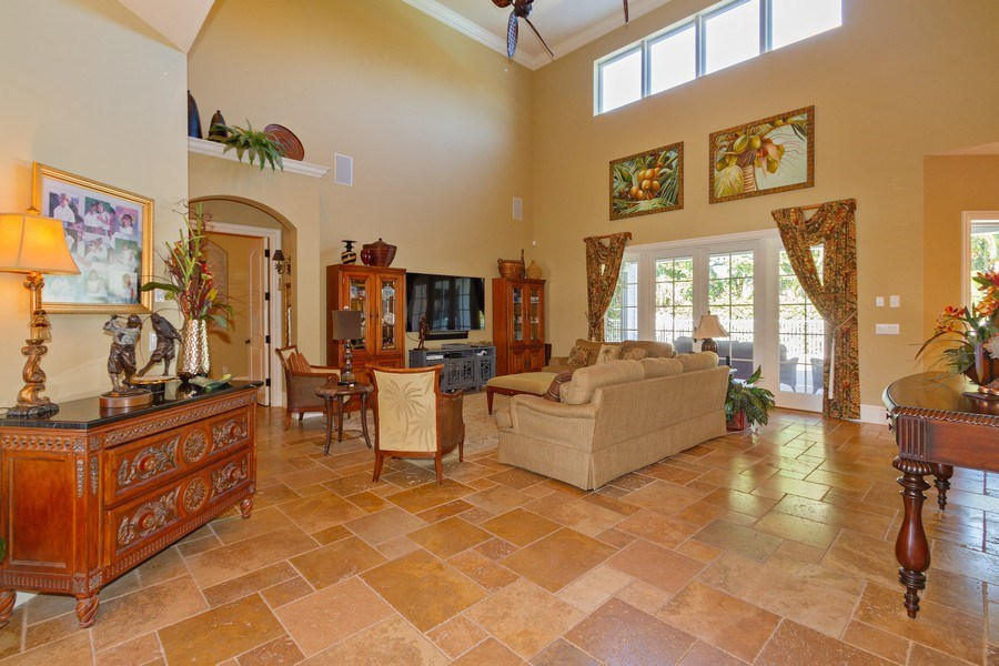 Real Estate Photography - 375 Wedge Drive, Naples,, FL, 34103 - Living Room