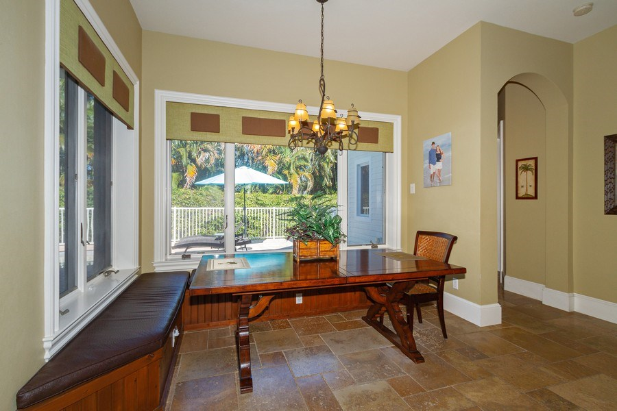 Real Estate Photography - 375 Wedge Drive, Naples,, FL, 34103 - Breakfast Nook