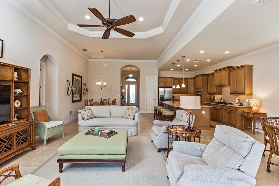 Real Estate Photography - 28556 San Amaro, Naples, FL, 34103 - Living Room
