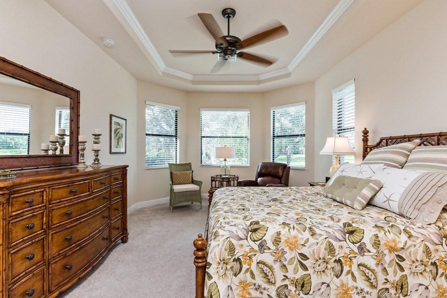 Real Estate Photography - 28556 San Amaro, Naples, FL, 34103 - Master Bedroom